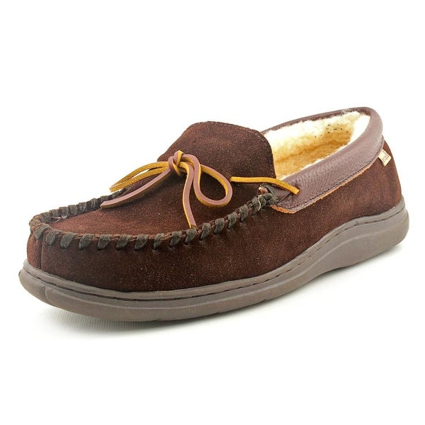 L.B. Evans 1804 Atlin Men Moc Toe Leather Brown Slipper