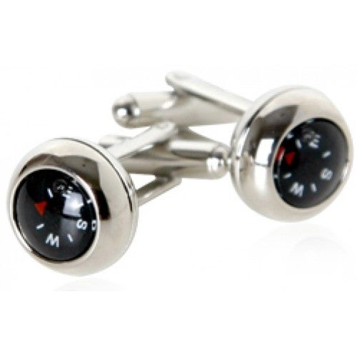 Functional Compass Navigation Travel Explorer Adventure Direction Cufflinks