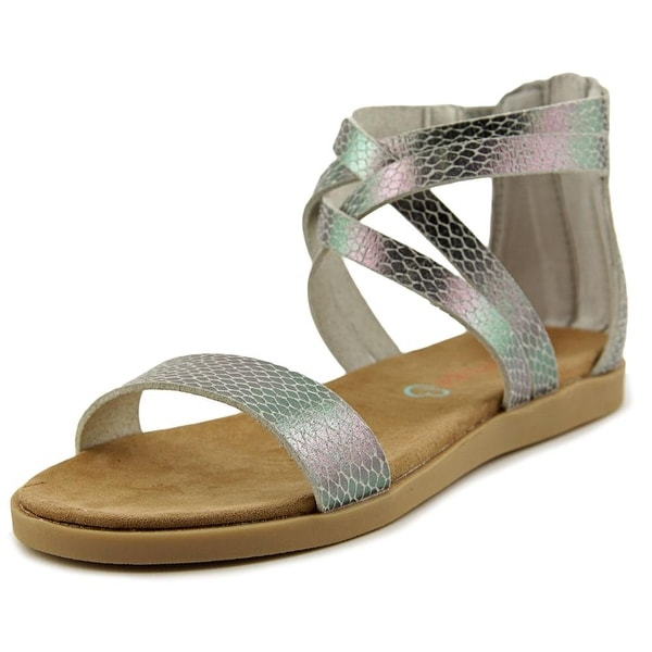 Baretraps Thyme Youth Open Toe Leather Gray Gladiator Sandal