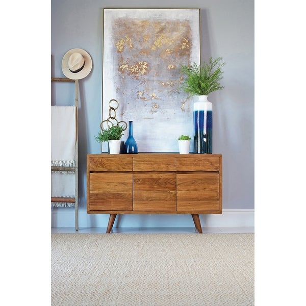 Carson Carrington Oesterbymo Natural 3-door Accent Cabinet. Opens flyout.