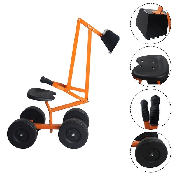 Costway Heavy Duty Kid Ride-on Sand Digger Digging Scooper Excavator. Opens flyout.