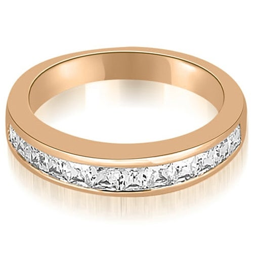 0.85 cttw. 14K Rose Gold Channel Set Princess Cut Diamond Wedding Band