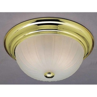 "Volume Lighting V7732 Marti 2 Light 13"" Flush Mount Ceiling Fixture with White A"