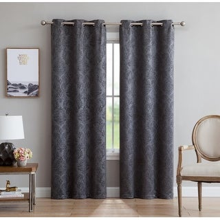 Link to Gracewood Hollow Plakalo Embossed Thermal-weaved Blackout Grommet Drapery Curtains Similar Items in Blackout Curtains