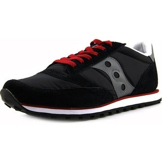 Saucony Jazz Low Pro Men Round Toe Suede Black Sneakers