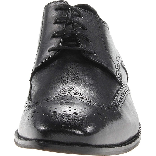 Florsheim CASTELLANO WGOX Mens MEDIUM and EXTRA WIDE Black Wingtip Dress Shoes