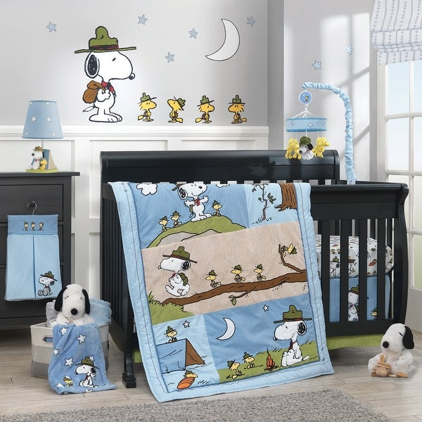 Shop Lambs Amp Ivy Snoopy S Campout With Woodstock Blue