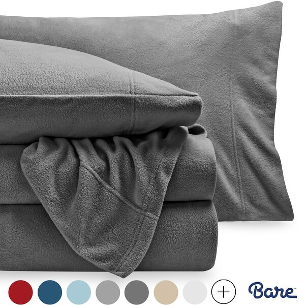 Bare Home Polar Fleece Sheet Set - Extra Plush & Breathable Sheets. Opens flyout.