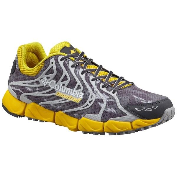 Columbia Montrail FluidFlex F.K.T. Shoe, Mens - electron yellow, dark grey