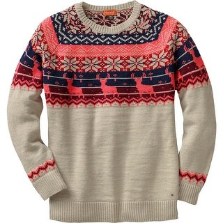 Legendary Whitetails Ladies Sleigh Ride Fair Isle Sweater - winter heather