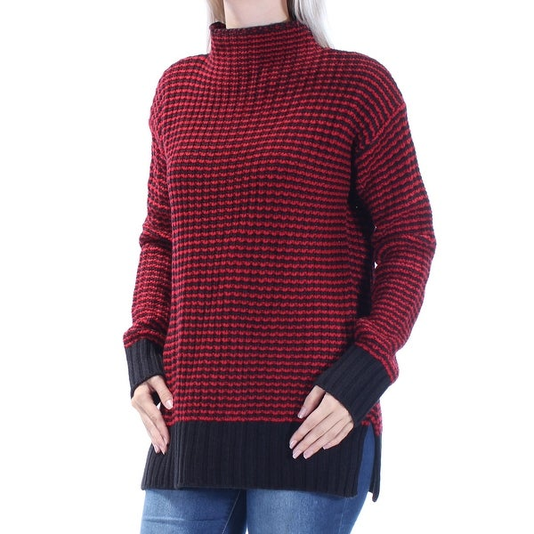 SANCTUARY Womens Red Long Sleeve Turtle Neck Sweater Size: S