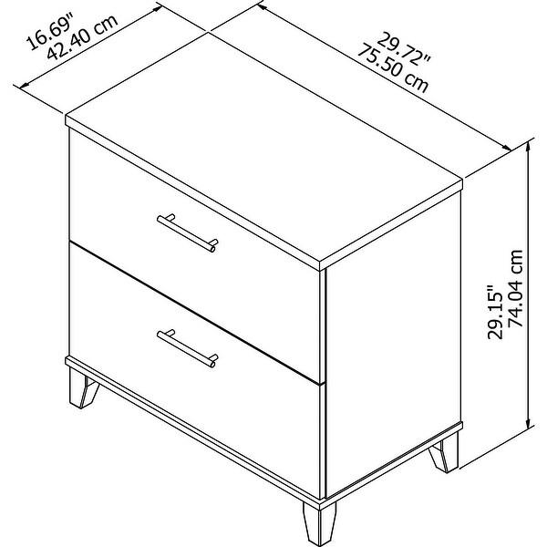 "Copper Grove Shumen Lateral File Cabinet - 29.72""L x 16.69""W x 29.15""H - 29.72""L x 16.69""W x 29.15""H"