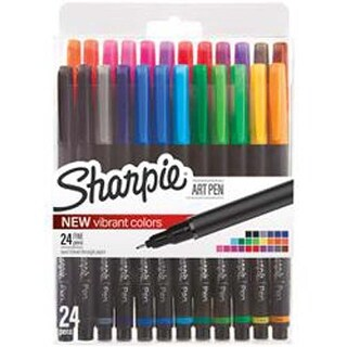 Assorted - Sharpie Fine Point Art Pen W/Hardcase 24/Pkg