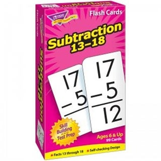 Flash Crds Subtraction 13-18, 99 Per Pack - Pack of 3