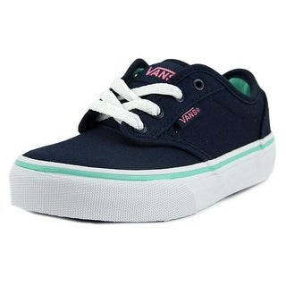 Vans Atwood Youth Round Toe Canvas Blue Skate Shoe