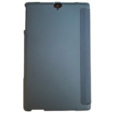 Verizon Folio Case & Tempered Glass Bundle for Ellipsis 8 HD - Phoenix Blue