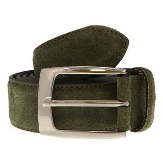 Renato Balestra VERDE OLIVA Olive Green Leather Mens Belt