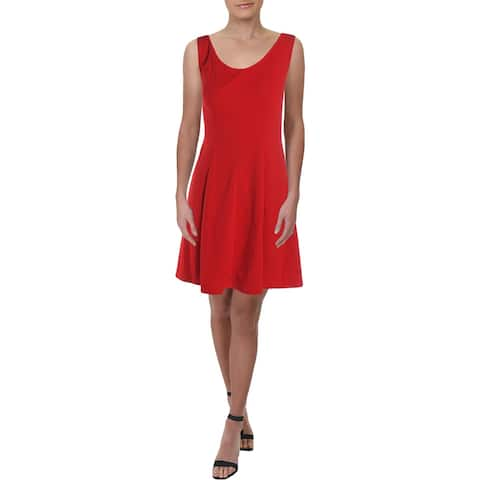 Signature By Robbie Bee Womens Wear to Work Dress Crepe Sleeveless - Red - 2