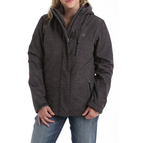 Cinch Western Jacket Womens 3-in-1 Hood Zip Charcoal