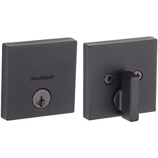 Kwikset 258SQT-S Downtown Low Profile Single Cylinder Deadbolt with SmartKey Technology - N/A