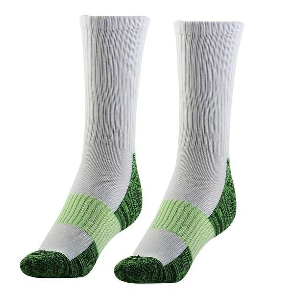 9677d2ae20 Adult Unisex Cushioned Sports Stockings Football Soccer Hiking Socks White  Pair