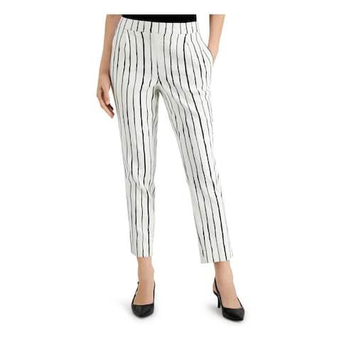 ALFANI Womens White Striped Capri Pants Size XXL