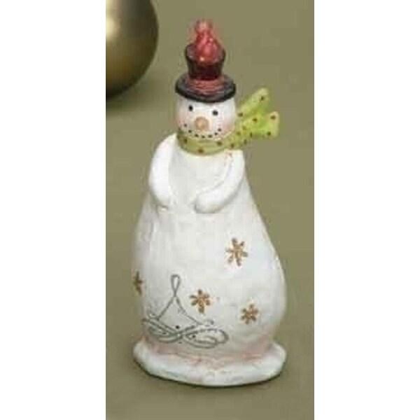 Tis the Season Snowman with Bird Table Top Christmas Figure