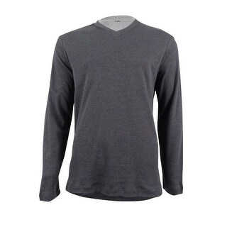 John Ashford Long Sleeve Ribbed V-Neck Shirt