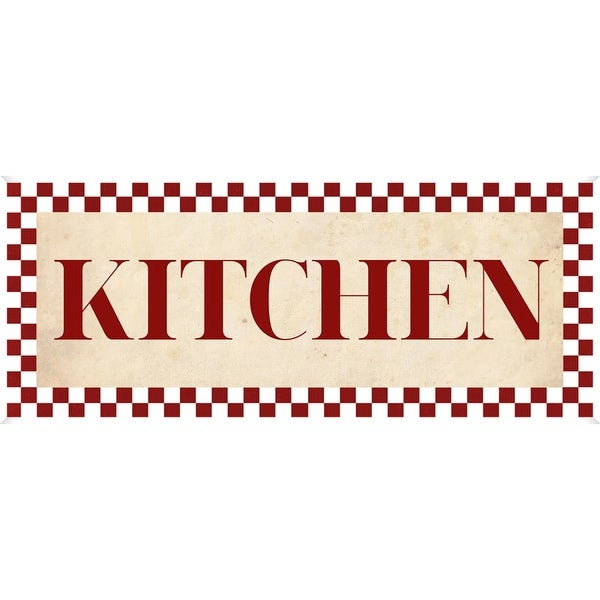 PTM Images 579793 Checkerboard Kitchen Sign - White - N/A