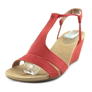 Style & Co Mitzee Women  Open Toe Synthetic Red Wedge Sandal