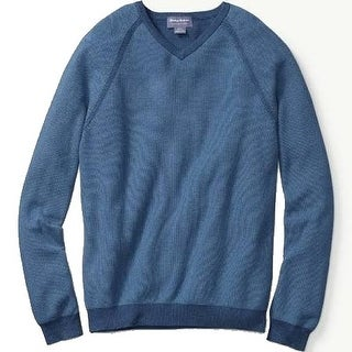 Tommy Bahama NEW Blue Mens Size 2XL Reversible Knit V-Neck Sweater