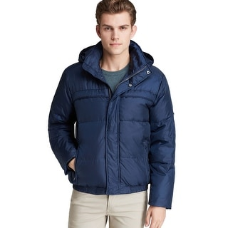 Marc New York Arctica Mens Hooded Navy Blue Down Fill Puffer Jacket XX-Large