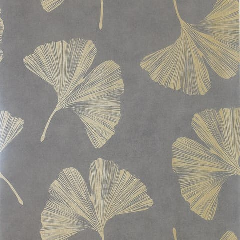 Arthouse Ginkgo Leaf Unpasted Non-Woven Wallpaper