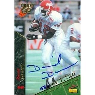 David Dunn Autographed Football Card Fresno State 1995 Signature
