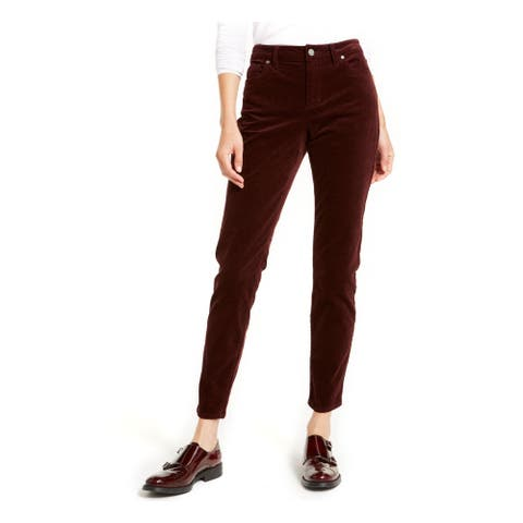 VINCE CAMUTO Womens Burgundy Skinny Jeans Size 30/10 - 30\10