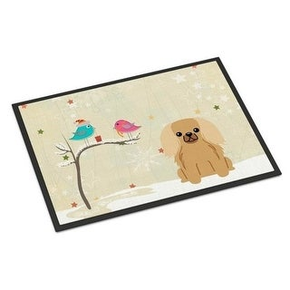 Carolines Treasures BB2576JMAT Christmas Presents Between Friends Pekingnese Fawn Sable Indoor or Outdoor Mat 24 x 0.25 x 36 in.