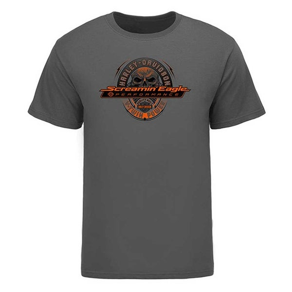1886ec5a Shop Harley-Davidson Men's Screamin' Eagle Glowing Skull Short Sleeve Tee  HARLMT0261 - Free Shipping On Orders Over $45 - Overstock - 18090219