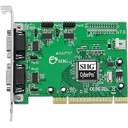 SIIG JJ-P45012-S7 SIIG CyberSerial JJ-P45012-S7 4-port PCI Serial Adapter - 4 x 9-pin DB-9 RS-232 Serial PCI