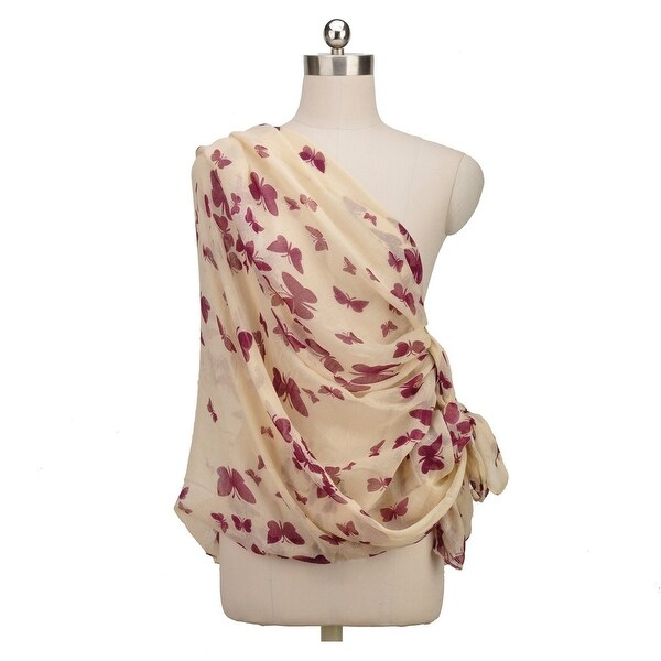 Elegant Women Butterfly Print Soft Long Scarf Wrap Shawl