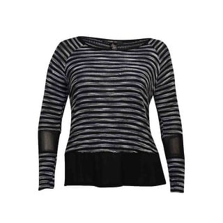Style & Co Women's Striped Illusion Knit Top - xL