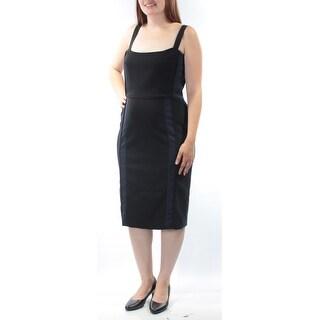 Womens Black Sleeveless Knee Length Wear To Work Dress Size: 12