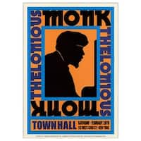 ''Thelonious Monk : Town Hall NYC, 1959'' by Anon African American Art Print (24 x 17 in.)