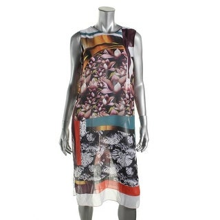 Clover Canyon Womens Chiffon Printed Dress Swim Cover-Up