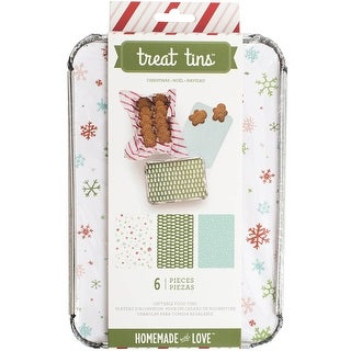 Homemade With Love Food Craft Tins Large 3/Pkg-Christmas