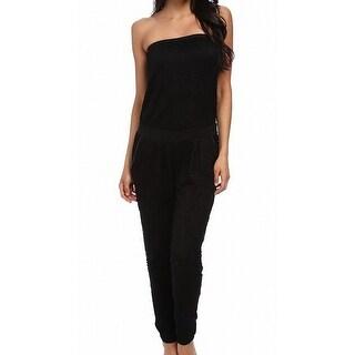 TART NEW Black Women's Medium M Strapless Lace Overlay Jumpsuit