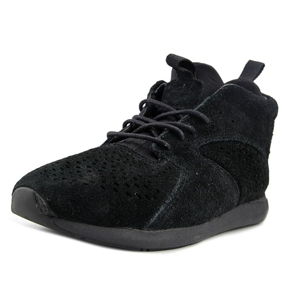 Diamond Supply Co Quest Mid Men Round Toe Suede Black Sneakers