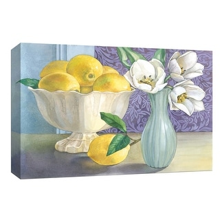 "PTM Images 9-153798  PTM Canvas Collection 8"" x 10"" - ""Lemons and Tulips"" Giclee Fruits & Vegetables Art Print on Canvas"