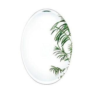 Alno 9564-202 21-1/4 x 31-1/4 Inch Frameless Oval Mirror