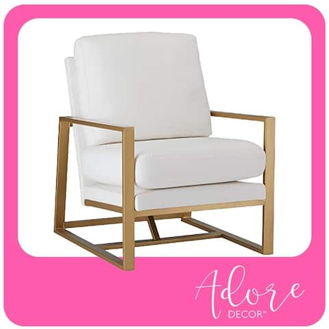Silver Orchid Burton Hazel and Ivory Accent Chair