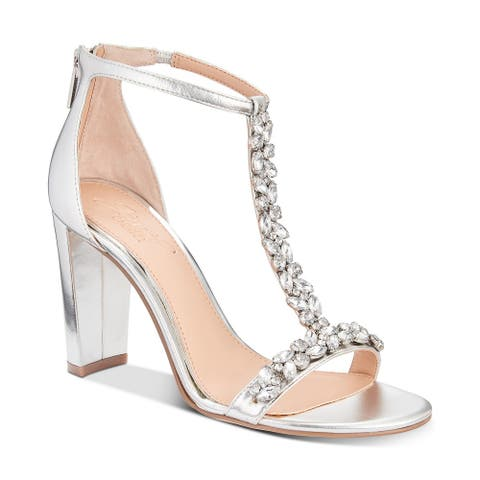 BADGLEY MISCHKA Womens Morley Open Toe Special Occasion T-Strap Sandals